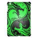 Yin Yang Dragons, green and black iPad Mini Cover