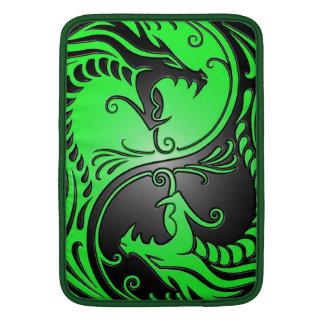 Yin Yang Dragons, green and black Sleeves For MacBook Air