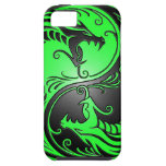Yin Yang Dragons, green and black iPhone 5 Cases