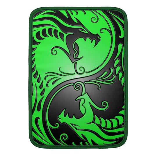 Yin Yang Dragons, green and black MacBook Air Sleeve