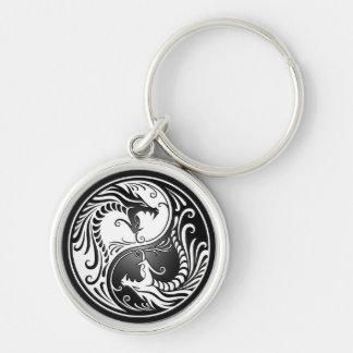 Yin Yang Dragons Keychain