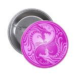 Yin Yang Dragons, light purple 2 Inch Round Button