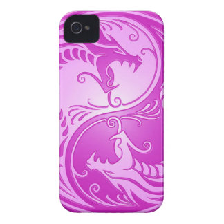 Yin Yang Dragons, light purple iPhone 4 Cover