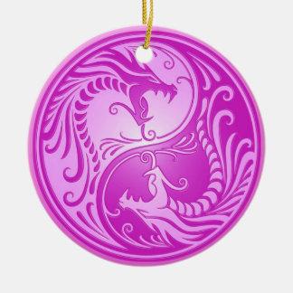 Yin Yang Dragons, light purple Ornaments