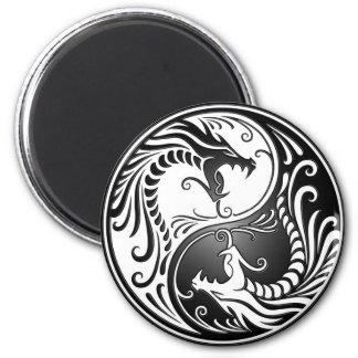 Yin Yang Dragons Fridge Magnets