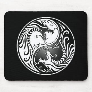 Yin Yang Dragons Mouse Pads