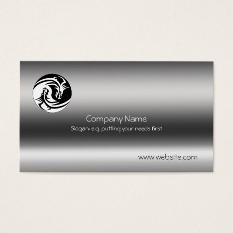Yin-Yang Dragons on metallic-effect Business Card
