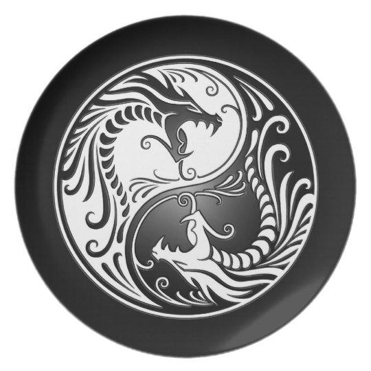 Yin Yang Dragons Plate