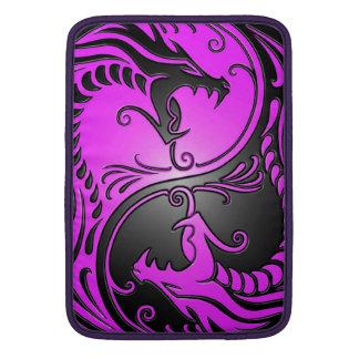 Yin Yang Dragons, purple and black MacBook Air Sleeve