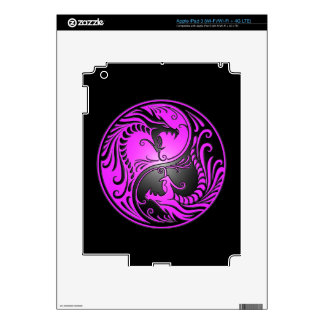 Yin Yang Dragons, purple and black iPad 3 Skin