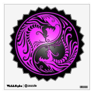 Yin Yang Dragons, purple and black Wall Stickers