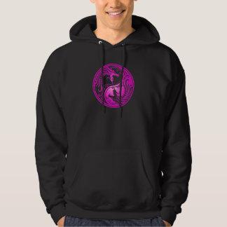 Yin Yang Dragons, purple Hoodie