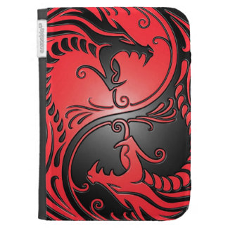 Yin Yang Dragons red and black Kindle Keyboard Case
