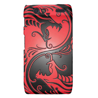 Yin Yang Dragons red and black Droid RAZR Case