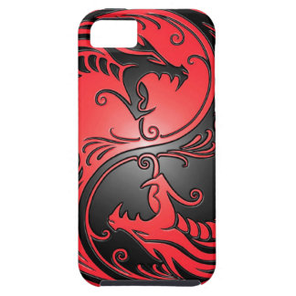 Yin Yang Dragons, red and black iPhone 5 Case