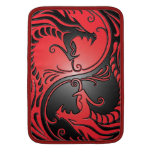 Yin Yang Dragons, red and black Sleeve For MacBook Air