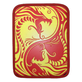 Yin Yang Dragons, red and yellow Sleeve For iPads