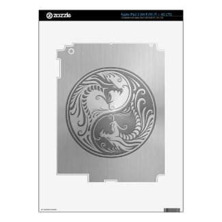 Yin Yang Dragons, stainless steel iPad 3 Decal