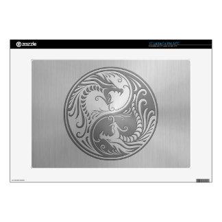 Yin Yang Dragons stainless steel Skins For Laptops