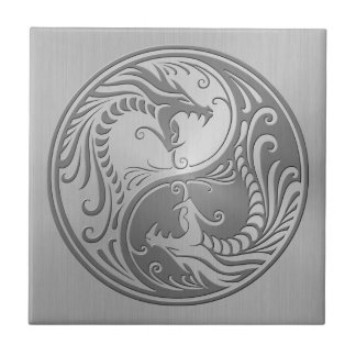 Yin Yang Dragons, stainless steel Ceramic Tiles
