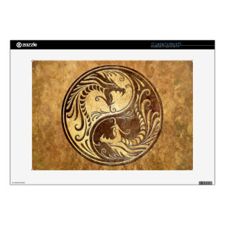 "Yin Yang Dragons, stone Decals For 15"" Laptops"