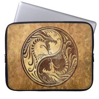 Yin Yang Dragons, stone Laptop Computer Sleeve
