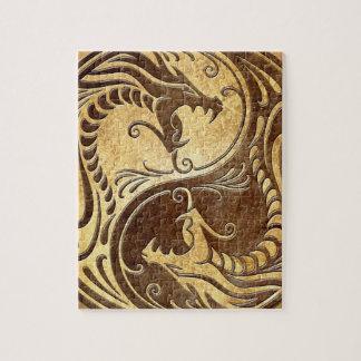 Yin Yang Dragons, stone Puzzles