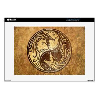 Yin Yang Dragons stone Skins For Laptops