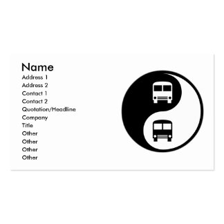 Yin Yang Driving a Bus Double-Sided Standard Business Cards (Pack Of 100)
