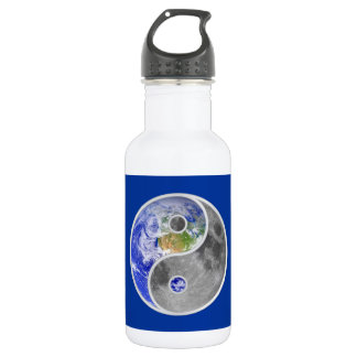 YIN-YANG EARTH MOON STAINLESS STEEL WATER BOTTLE