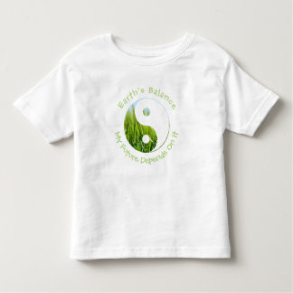 Yin Yang - Earth's Balance My Future Depends On It Toddler T-shirt