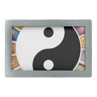 yin yang eastern asian philosophy belt buckle