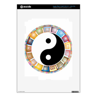 yin yang eastern asian philosophy decals for iPad 3