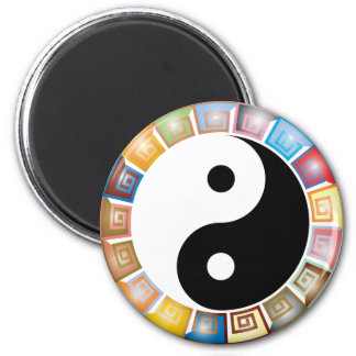 yin yang eastern asian philosophy magnet