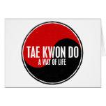Yin Yang el Taekwondo 1 Felicitacion