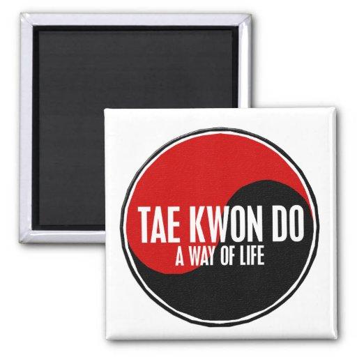 Yin Yang el Taekwondo 1 Imanes