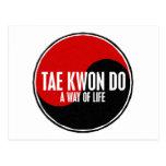 Yin Yang el Taekwondo 1 Postales