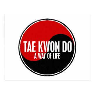 Yin Yang el Taekwondo 1 Tarjeta Postal