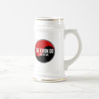 Yin Yang el Taekwondo 1 Tazas De Café