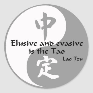 Yin Yang - Elusive and Evasive Classic Round Sticker