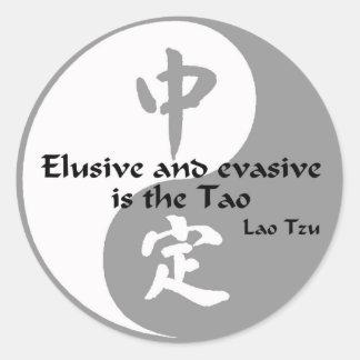 Yin Yang - Elusive and Evasive Classic Round Sticker