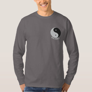 Yin Yang Embroidered Design on Shirts, Jackets