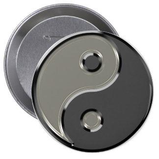 Yin Yang en 2 sombras de gris Pins