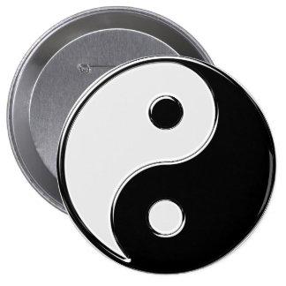Yin Yang en blanco y negro Pins