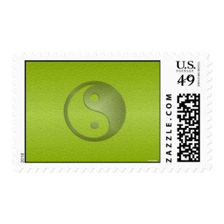 Yin Yang en franqueo verde de la piedra arenisca