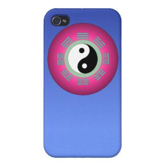 Yin Yang en la caja azul del iPhone 4 iPhone 4/4S Carcasa