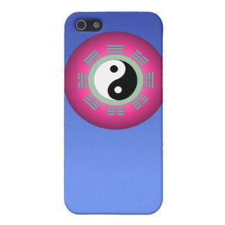 Yin Yang en la caja azul del iPhone 4 iPhone 5 Cárcasa