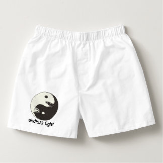 yin yang endless fight with text boxers