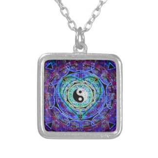 Yin Yang Energy Flow Silver Plated Necklace
