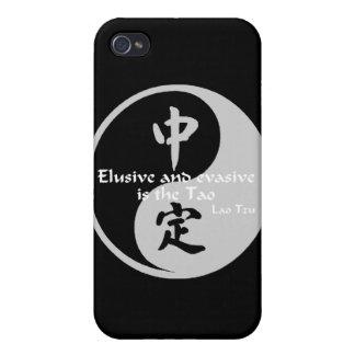 Yin Yang - evasivo y evasivo iPhone 4/4S Funda